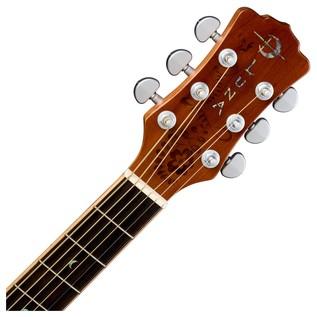 Luna Henna Oasis Electro Acoustic Guitar, Cedar Neck & Headstock View