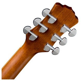 Luna Henna Oasis Electro Acoustic Guitar, Cedar Back of Neck View