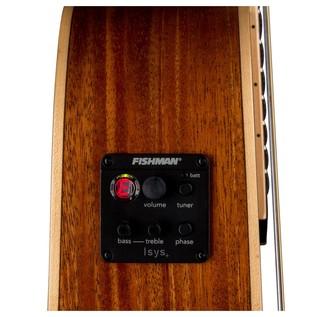Luna Henna Oasis Electro Acoustic Guitar, Cedar Preamp View