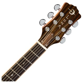 Luna Oracle Dragonfly Folk Electro Acoustic Guitar Neck & Headstock View