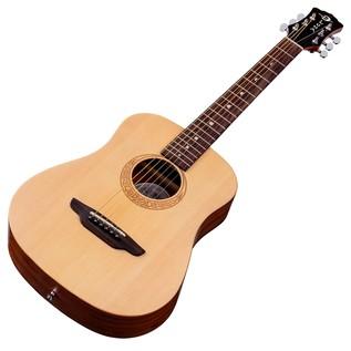 Luna Safari Muse Spruce Travel Guitar Pack Slanted View