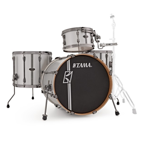 Tama Superstar Hyper-Drive 4pc Shell Pack w/ Duo Snare, Satin Silver