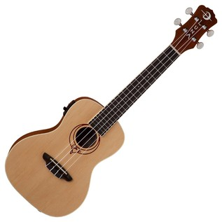 Luna Heartsong Electro Acoustic Concert Ukulele with USB Output Front View