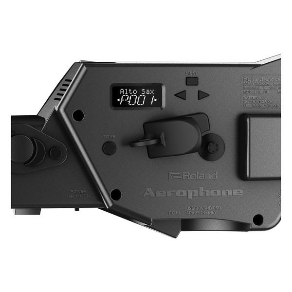 AE10-G Aerophone, Graphite Black, Rear Panel