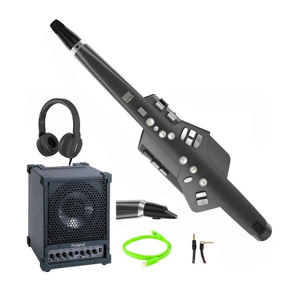 AE-10G Aerophone, Graphite Black, Amp Bundle