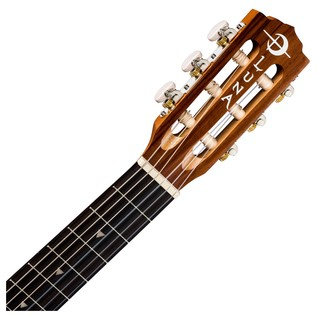 Luna Tattoo 6 String Baritone Ukulele Neck & Headstock View