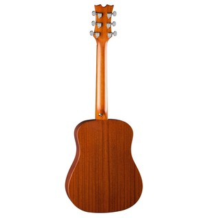 Dean Flight Series Travel Acoustic Guitar, Spruce Back View