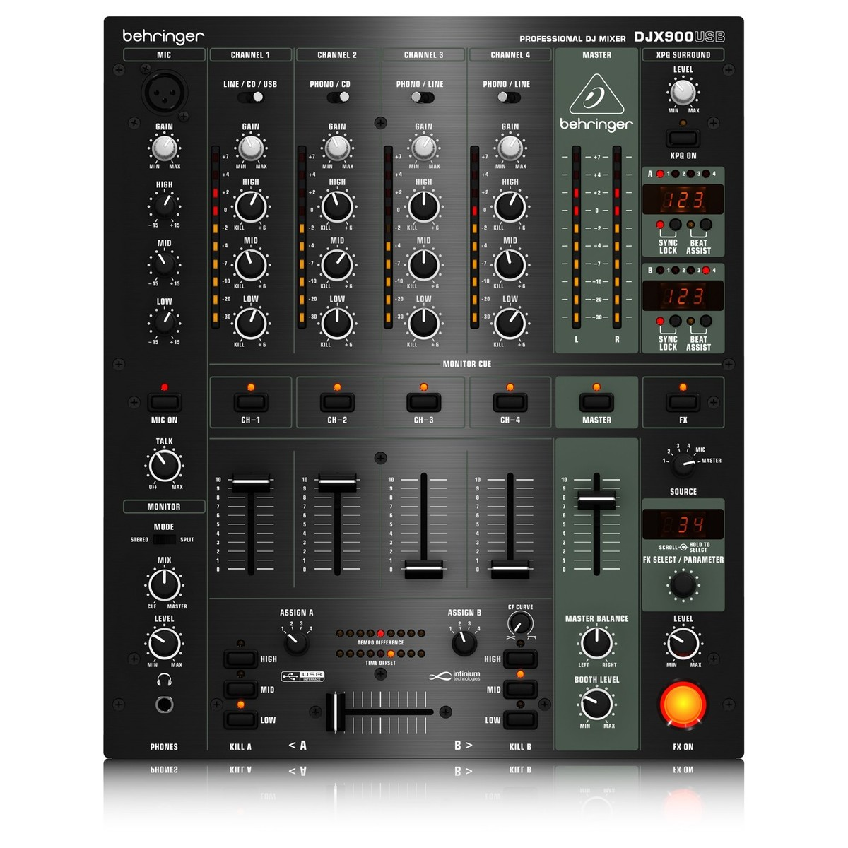 behringer djx900 pro usb dj mixer box opened at gear4music. Black Bedroom Furniture Sets. Home Design Ideas