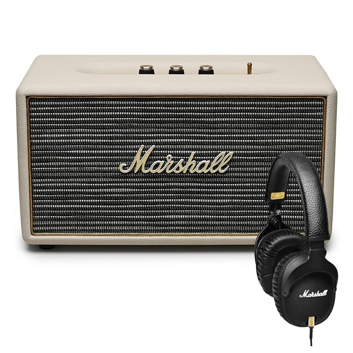 marshall stanmore enceinte bluetooth cr me et casque. Black Bedroom Furniture Sets. Home Design Ideas