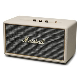 Marshall Stanmore Bluetooth Speaker, Cream - Angled