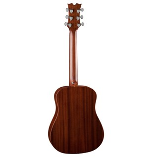 Dean Flight Series Travel Acoustic Guitar, Bubinga Back View