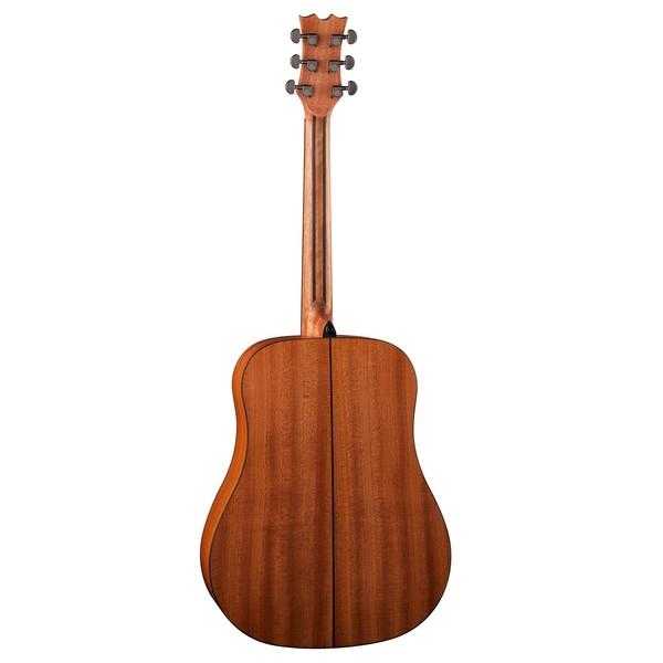 Dean AXS Dreadnought Mahogany Acoustic Guitar, Satin Natural Back View