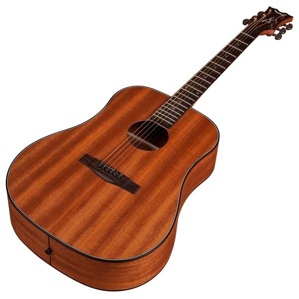 Dean AXS Dreadnought Mahogany Acoustic Guitar, Satin Natural Slanted View