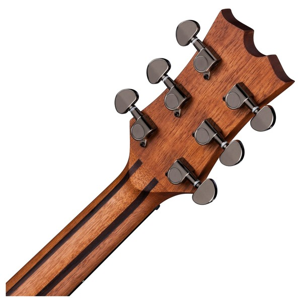 Dean AXS Dreadnought Mahogany Acoustic Guitar, Satin Natural Back of Neck View