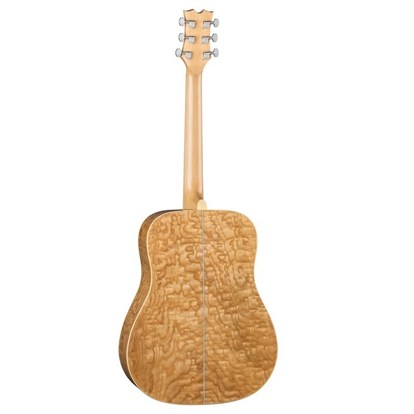 Dean AXS Quilt Ash Dreadnought, Gloss Natural Back View