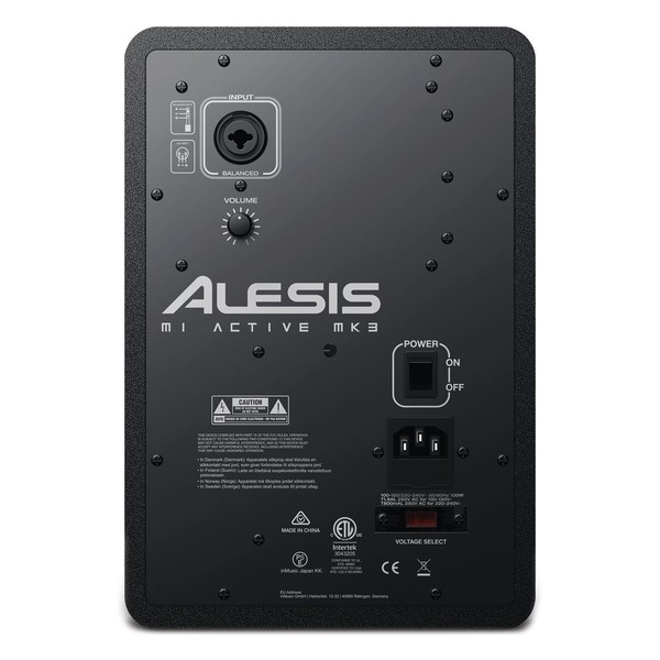 Alesis M1 MKIII Studio Monitor - Rear