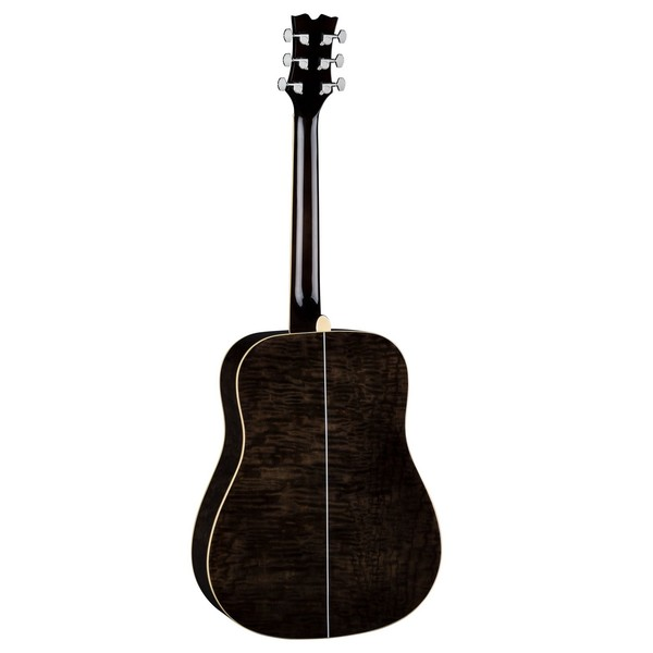 Dean AXS Quilt Ash Dreadnought Acoustic, Transparent Black Back View