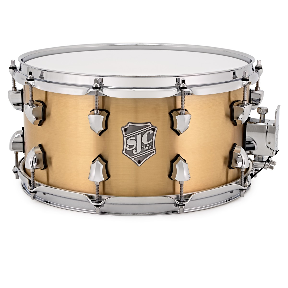 sjc drums 14 39 39 x 7 39 39 goliath snare drum rolled brass at gear4music. Black Bedroom Furniture Sets. Home Design Ideas