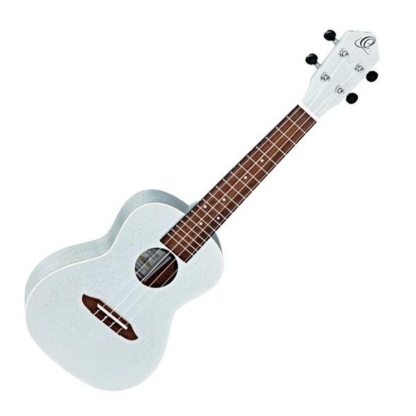 Ortega RUSILVER Concert Acoustic Ukulele, Silver Front View