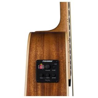 Luna Henna Oasis Electro Acoustic Guitar, Spruce Side