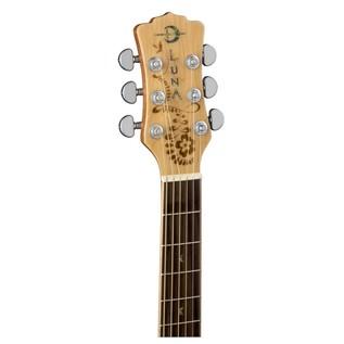 Luna Henna Oasis Electro Acoustic Guitar, Spruce Head Stock