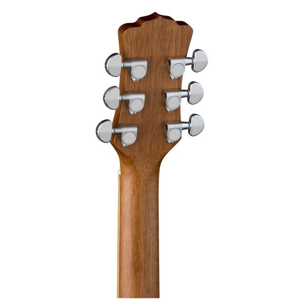 Luna Henna Oasis Electro Acoustic Guitar, Spruce Head Stock Back