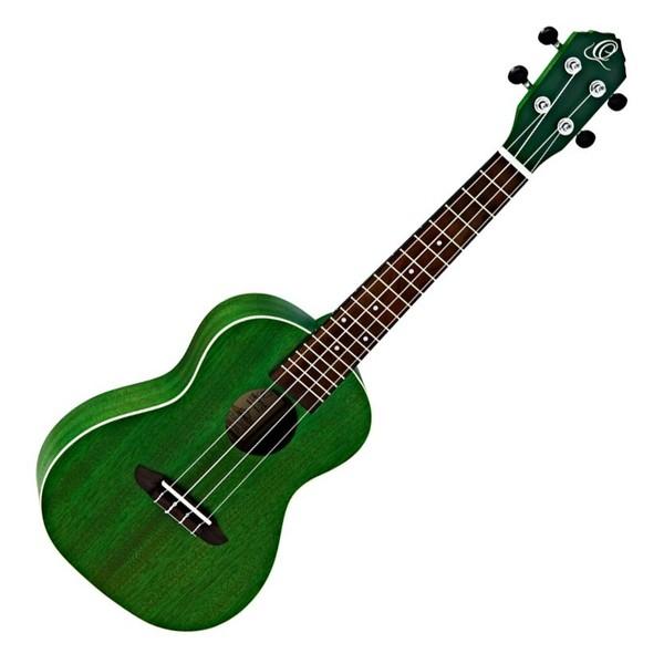 Ortega RUFOREST Concert Acoustic Ukulele, Forest Green Front View