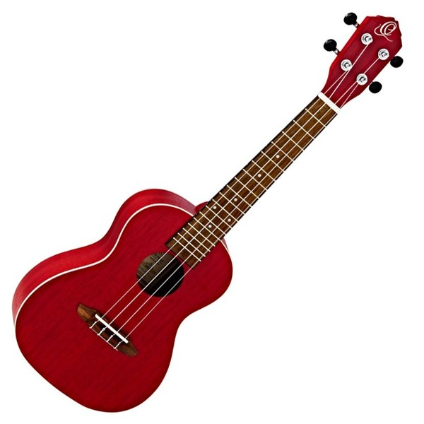 Ortega RUFIRE Concert Acoustic Ukulele, Fire Red Front View
