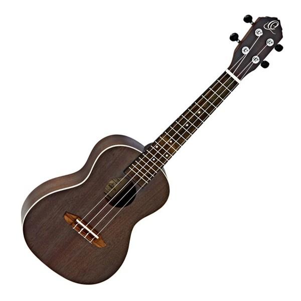 Ortega RUCOAL Concert Acoustic Ukulele, Coal Black
