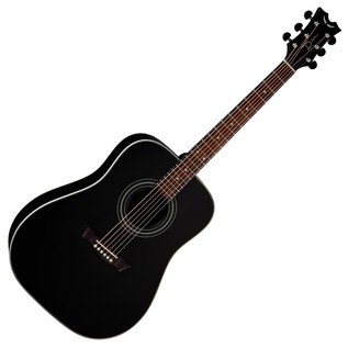 Dean St Augustine Solid Top Dreadnought Acoustic, Classic Black Front View
