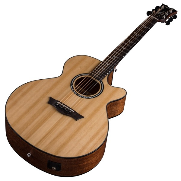 Dean Performer Plus Electro-Acoustic, Gloss Natural Slanted View