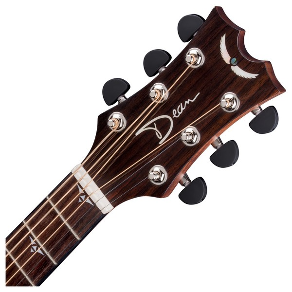 Dean Performer Plus Electro-Acoustic, Gloss Natural Neck & Headstock View