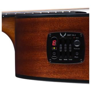 Dean Performer Plus Electro-Acoustic, Tobacco Sunburst Preamp View