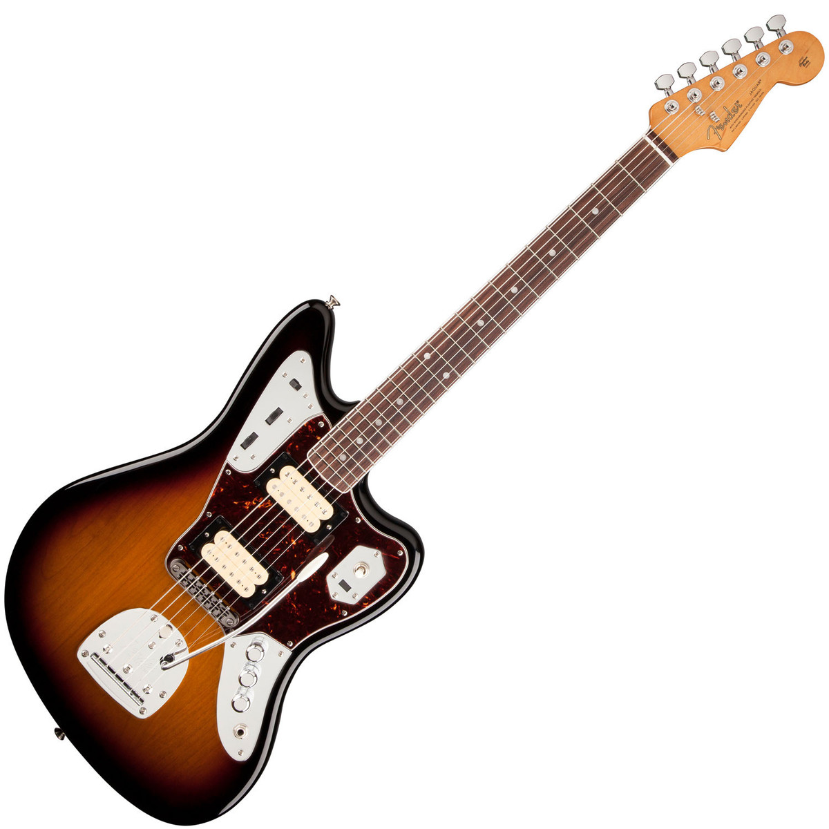 fender kurt cobain jaguar nos guitar, 3-tone sunburst - b-stock