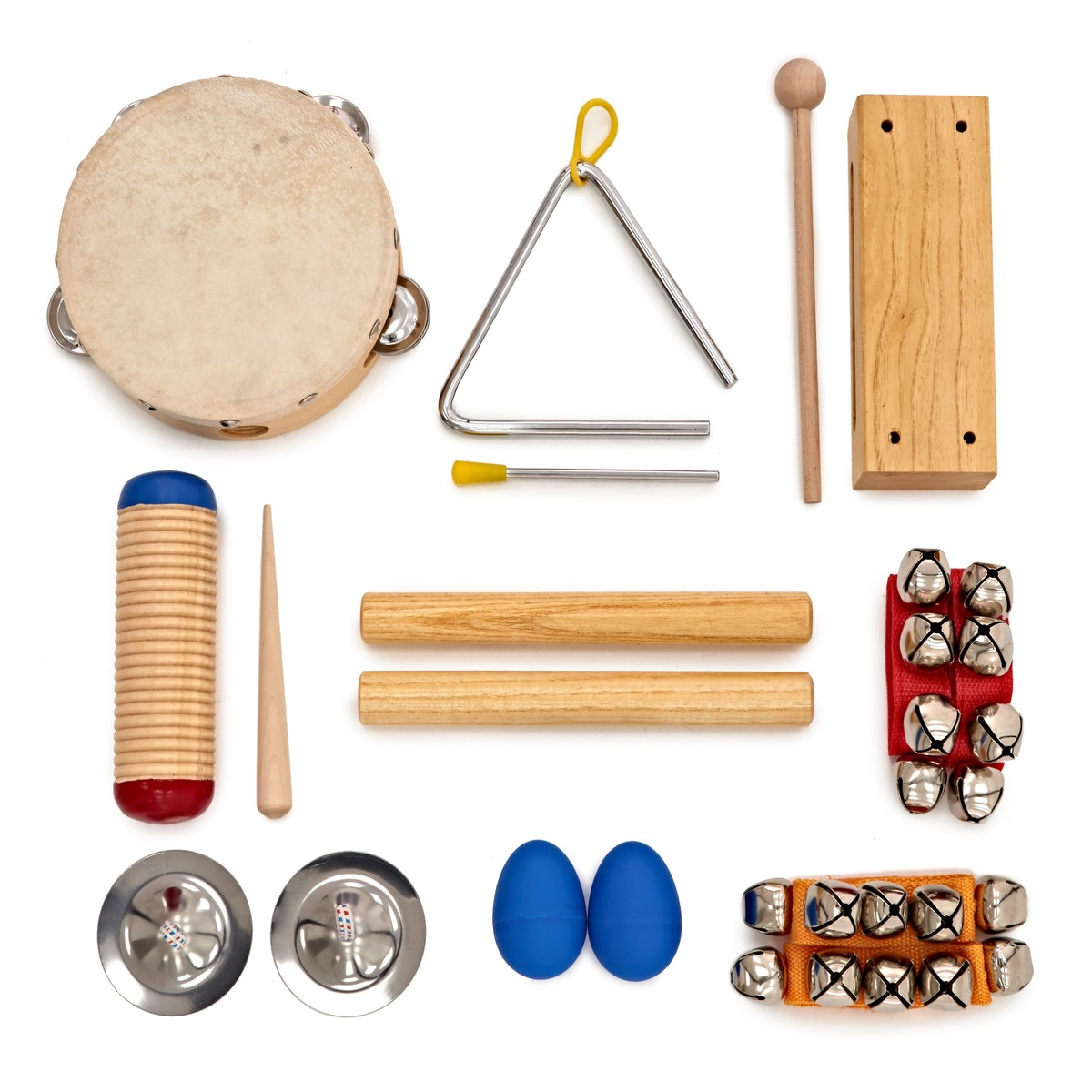 Shop now | Shake and Jingle 9 Piece Kids Percussion Set by Gear4music