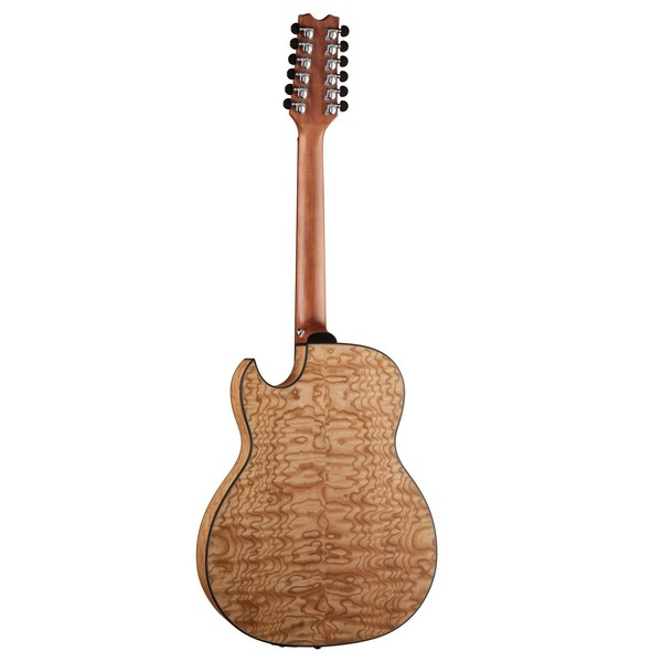 Dean Exhibition 12-String Electro Acoustic, Gloss Natural Back View