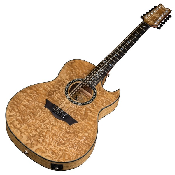 Dean Exhibition 12-String Electro Acoustic, Gloss Natural Slanted View