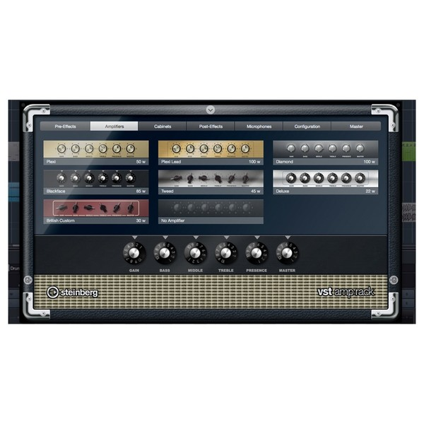 Steinberg Cubase Artist 9.5 - VST Amp Rack
