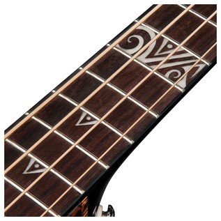 Dean Exotica Supreme Electro Acoustic Bass Guitar, Classic Black Pearl Inlay View