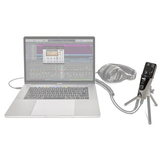 Apogee MiC Plus USB Condenser Microphone - Full Contents (Laptop & Headphones Not Included)