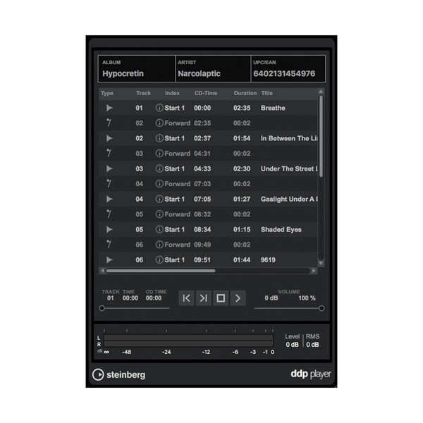 Steinberg Wavelab Pro 9.5, Education - DDP Player