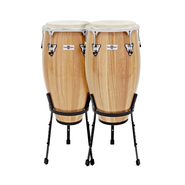 "Congas 11.75"" + 12.5"" Set with Stand by Gear4music"