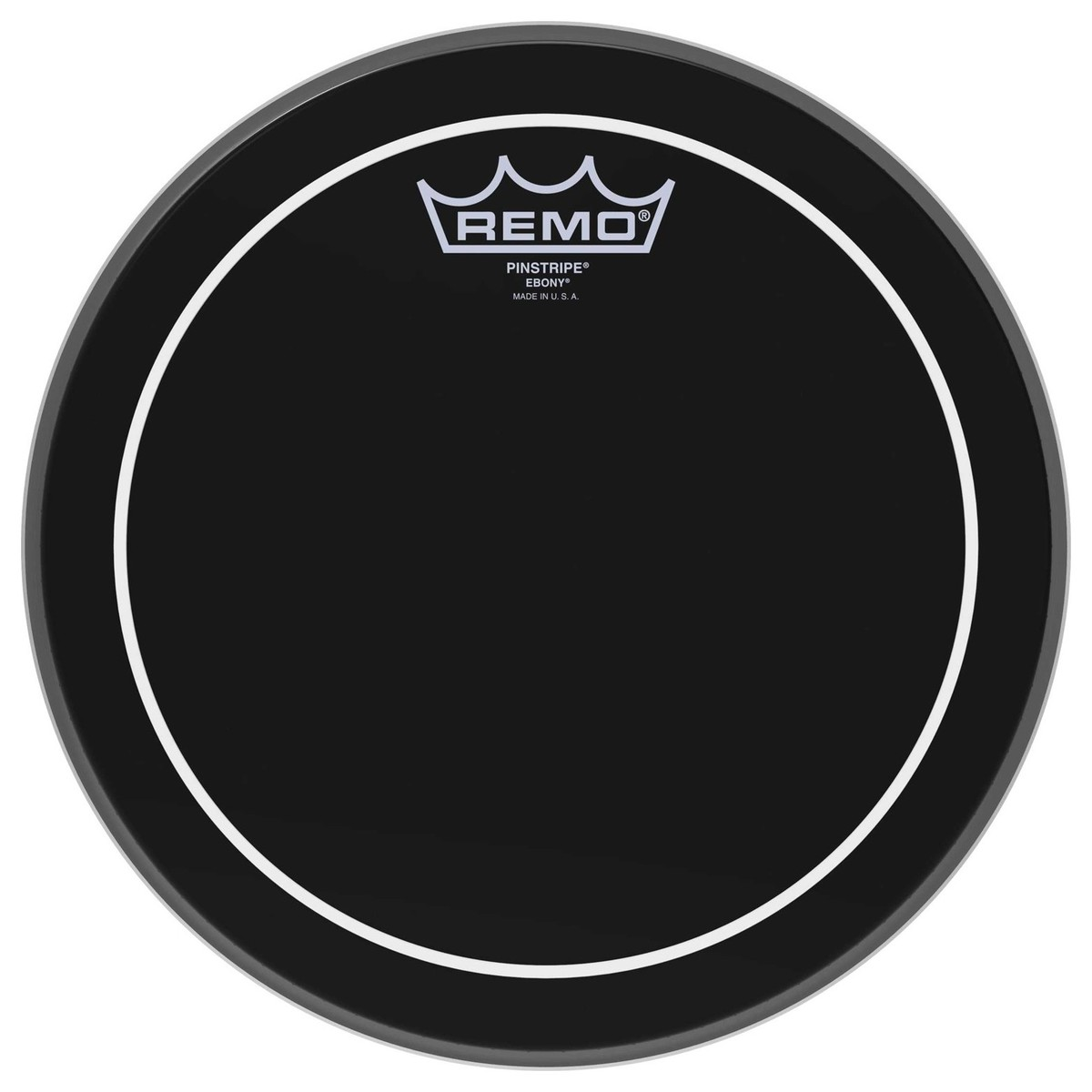 Click to view product details and reviews for Remo Pinstripe Ebony 12 Drum Head.