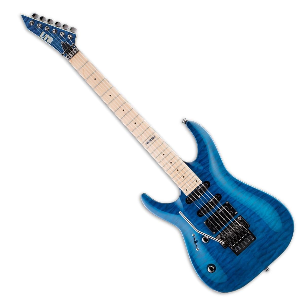 esp ltd mh 103qm electric guitar lh see thru blue at. Black Bedroom Furniture Sets. Home Design Ideas