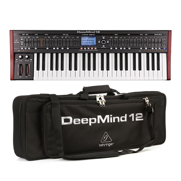 Behringer DeepMind 12 Synthesizer With Waterproof Bag - Bundle