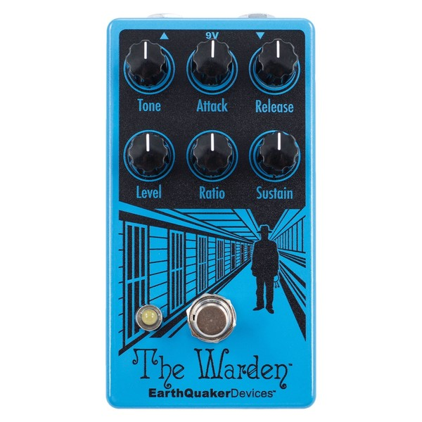 EarthQuaker Devices The Warden V2 Optical Compressor top view