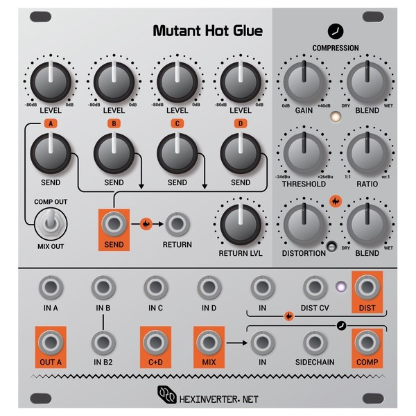Hexinverter Mutant Hot Glue (24HP) - Front