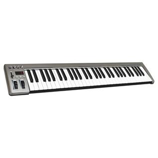 Acorn Instruments MasterKey 61 Key USB MIDI Keyboard - Angled