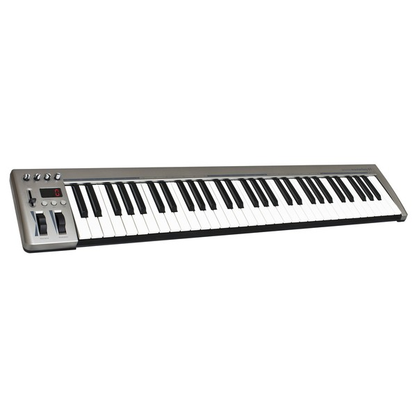 Acorn Instruments MasterKey 61 Key USB MIDI Keyboard - Angled