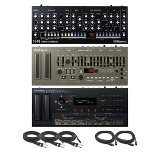 Roland Ultimate Synth Bundle Inc SE-02, SH-01A, D-05 and Cables - Complete